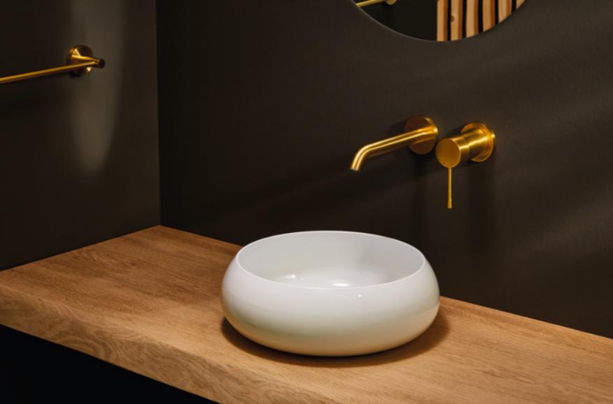 Badezimmer Trend Kupfer Gold